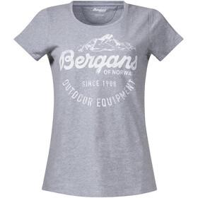 Bergans Classic Tee Damer, grey melange/white